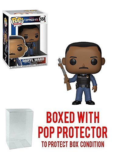 - Funko Pop! Movies: Netflix Bright - Daryl Ward Vinyl Figure (Bundled with Pop Box Protector Case)