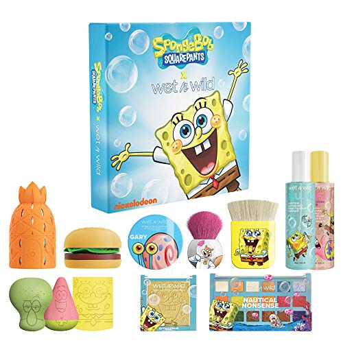 Wet n Wild Squarepants Makeup Collection Makeup Brushes Makeup Sponges Eyeshadow Palette Primer Spray 310014265…
