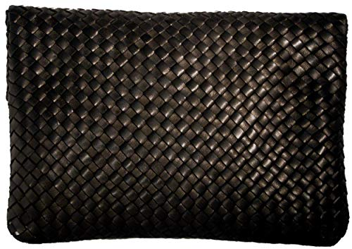Robert Leather 'Joyce' Fold Women's Woven Clutch in Glove Over Zur rURqzxr