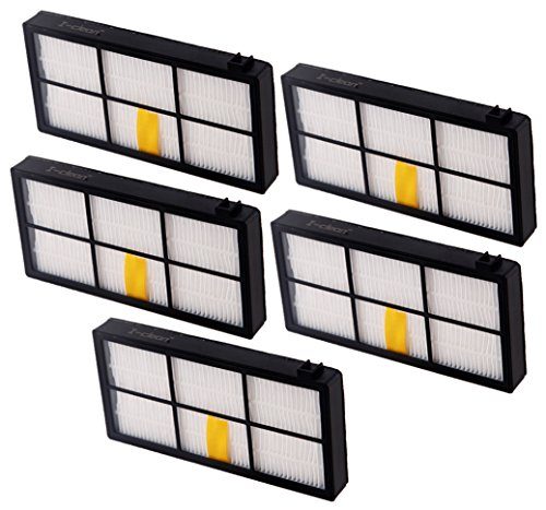 I-clean 5 PCS HEPA Filters for iRobot Roomba 800 series 870 880 Vacuum Cleaners Parts and Accessories (Robotic Notes Elite compare prices)