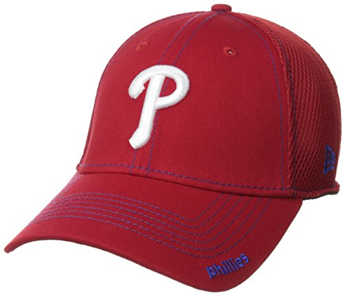MLB Philadelphia Phillies Neo Fitted Baseball Cap, Scarlet, Medium/Large