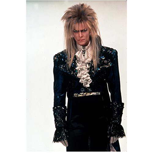Labyrinth 8x10 Photo David Bowie In costume Angry jaa]()