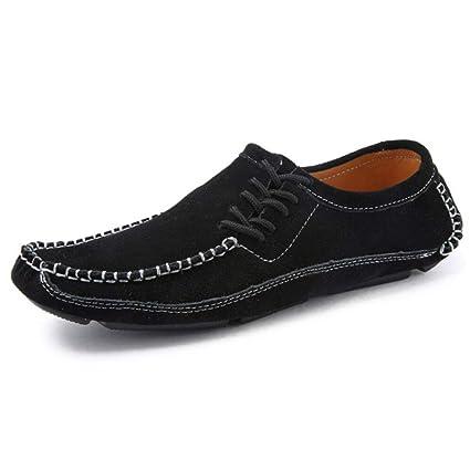YAN Calzado de Hombre Gamuza Otoño e Invierno 2018 Nuevos Mocasines y Zapatos  sin Cordones Zapatos 8a327f31eb3