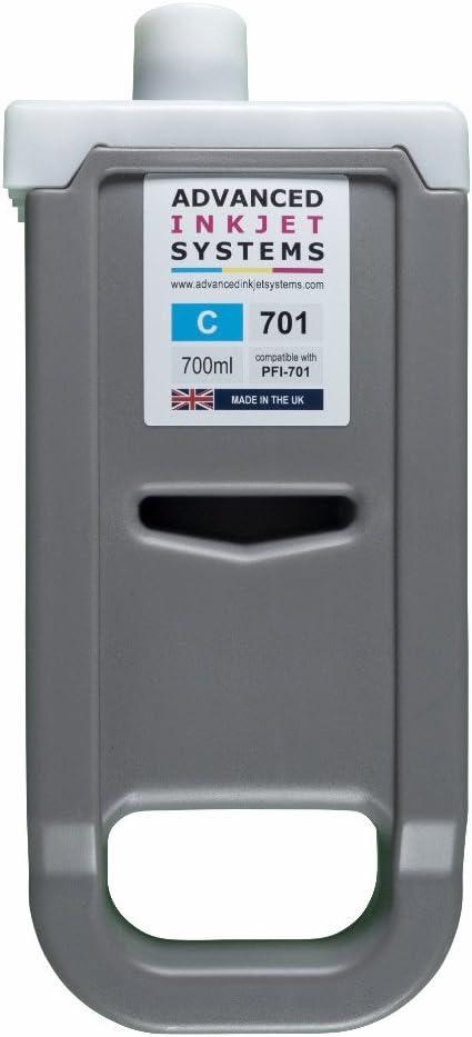 Compatible PFI-701 PFI 701 700 ml cartuchos para Canon IPF8000 ...