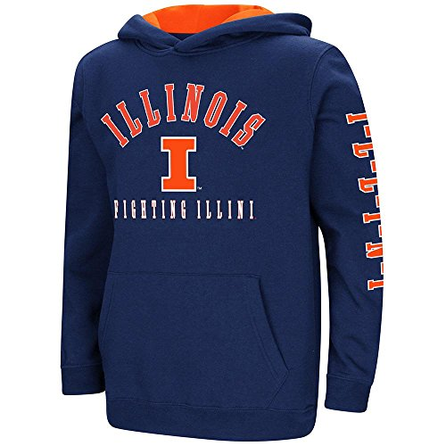 Colosseum Youth Illinois Fighting Illini Pull-Over Hoodie - L