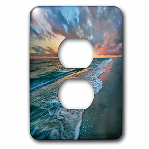 3dRose Danita Delimont - beaches - Sunset over the Gulf of Mexico, Gulf Islands National Seashore, FL - Light Switch Covers - 2 plug outlet cover - Outlets Gulf Shores