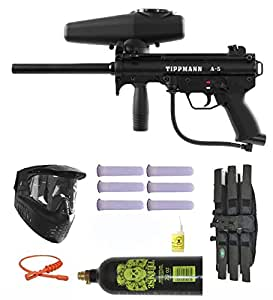 Tippmann A-5 w/ Selector Switch Paintball Marker Gun 3Skull Mega Set