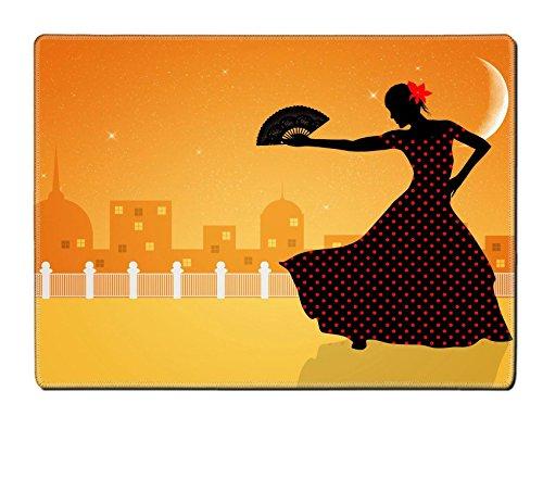 [Liili Placemat Natural Rubber Material Image ID 21730600 Illustration of flamenco dancer] (Female Flamenco Dancer Costumes)