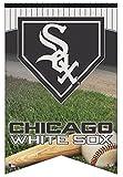 "Chicago White Sox Wincraft MLB Home Plate 17 X 26"" Premium Felt Banner"