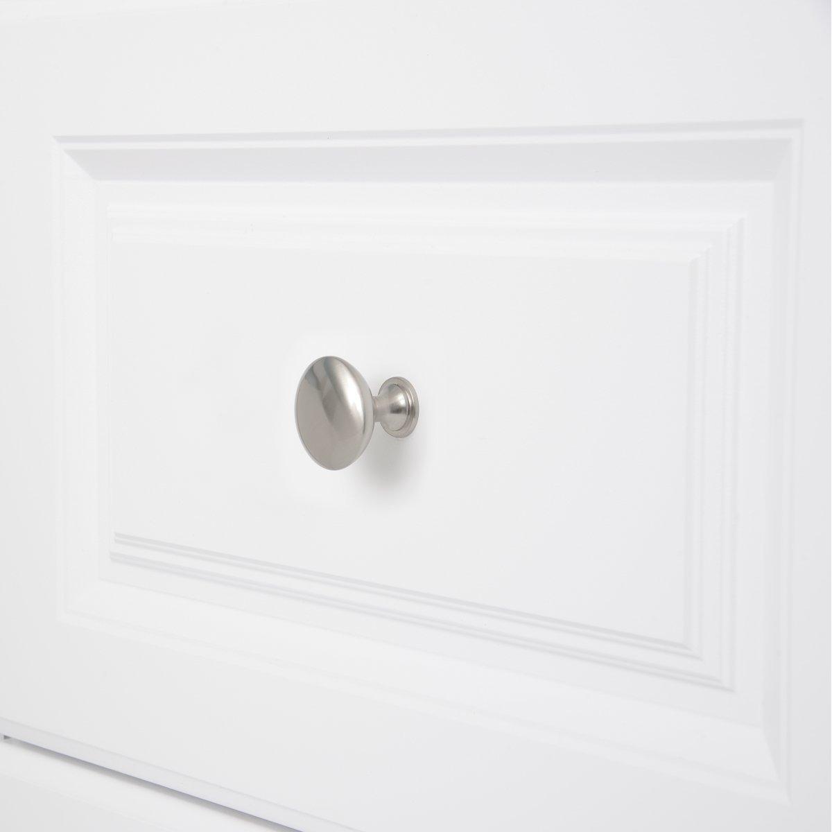 2,99 cm de di/ámetro Paquete de 50 Basics Pomo de armario redondo Cromo pulido