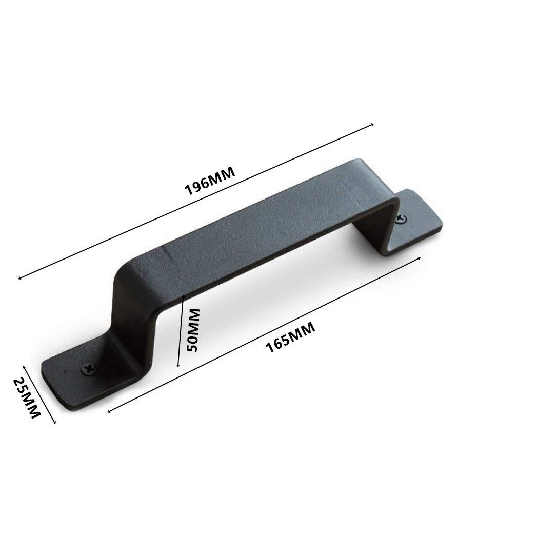 Manija de la puerta de granero Perilla de la manija de acero al carbono resistente negro para puerta corrediza, Puerta de entrada, Herrajes para puertas de madera(BA016-196mm): Amazon.es: Bricolaje y herramientas