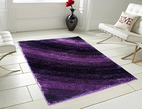 Story@Home Designer Shaggy Fur Abstract  Polyester Carpet – 60″x36, Purple