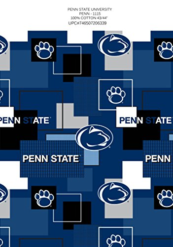 Penn State College Fleece - PENN STATE COTTON FABRIC BLOCK PRINT-PENN STATE BLOCK PRINT COTTON FABRIC-NEWEST DESIGN