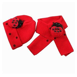 Ruikey 1 PCS Cappello Caldo di Coccinelle a Sette Punte con Cocciniglia per Bambini dai 2 Ai 3 Anni(Rosso)