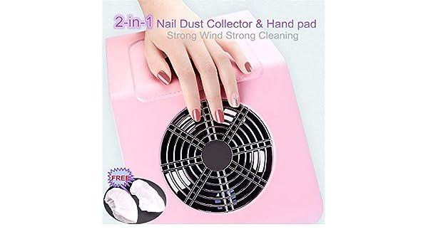 Ventilador de uñas Colector de polvo de succión Aspirador uñas ...