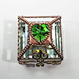 Heart Box, Stained Glass Box, Wedding Ring Box, Engagement Ring Box, Birthstone