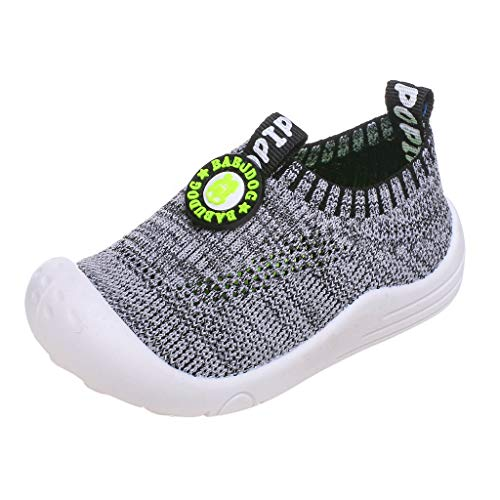 Price comparison product image ONLY TOP Baby Boys Girls Sneakers Anti Slip Lightweight Soft Toddler First Walkers for Walking Running Gray