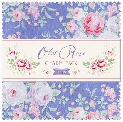 Charm Pack 42 Pieces of 5 Fabric Squares Tilda Fabrics Old Rose Collection