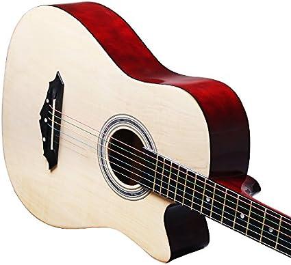 GFEI Guitarra para principiantes, estudiantes, coloridos hilos ...