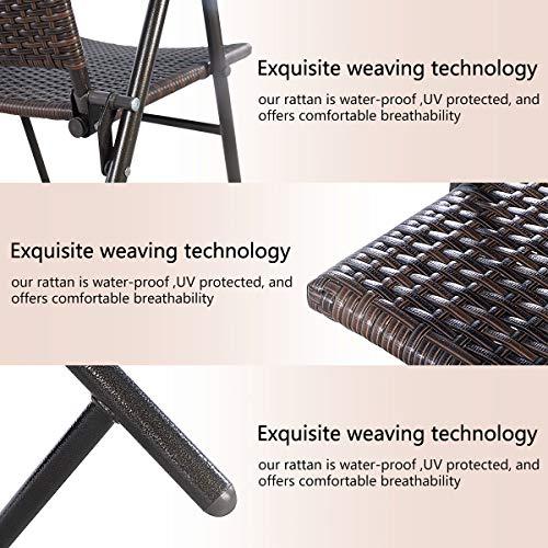 Patio Dining Chairs Tangkula 4 PCS Folding Patio Chair Set Outdoor ...