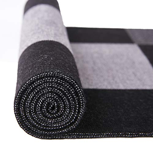 Taylormia Men's Winter Cashmere Scarf - Warm Soft Gentleman Knit Scarves Black Grey by Taylormia (Image #5)