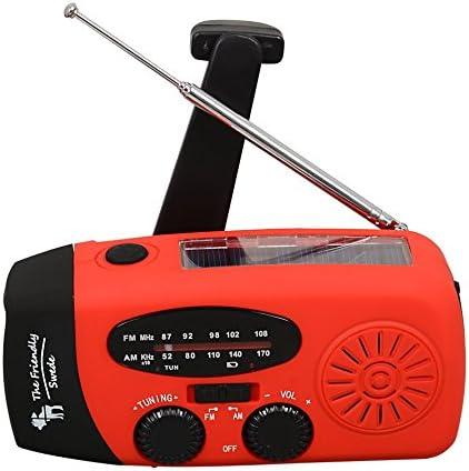 Garantie A Vie The Friendly Swede Lot de 2 Radio-Lampes Portables avec Charge /à Dynamo ou /à Energie Solaire et Chargeur pour Portable Allume-feu en Cadeau
