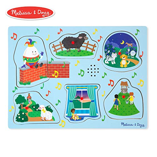 Melissa & Doug Nursery Rhymes 2 Sound Puzzle (6 Piece)