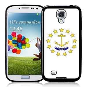 Cool Painting Flag of Rhode Island - Protective Designer BLACK Case - Fits Samsung Galaxy S4 i9500
