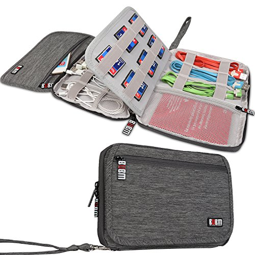 bubm-travel-gear-organizer-electronics-accessories-bag-card-holder-gray