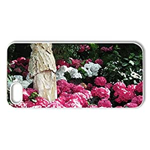 Garden of Hydrangeas - Case Cover for iPhone 5 and 5S (Flowers Series, Watercolor style, White)