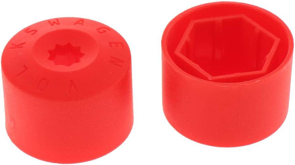 Almencla 20x 17mm Radschraubenkappen Radmutter Kappen Abdeckungen Mutterkappe Schutz Chrom Schraubenfelgen mit Abzieher