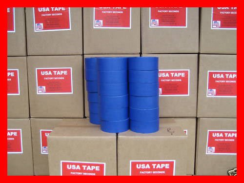 24 Rolls 2'' X 60 Yrds Blue Painters Masking Tape by USA Tape