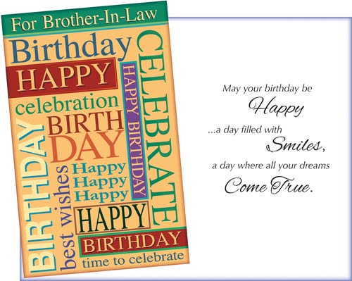 Prime Greetings Happy Birthday Card For Brother-In-Law