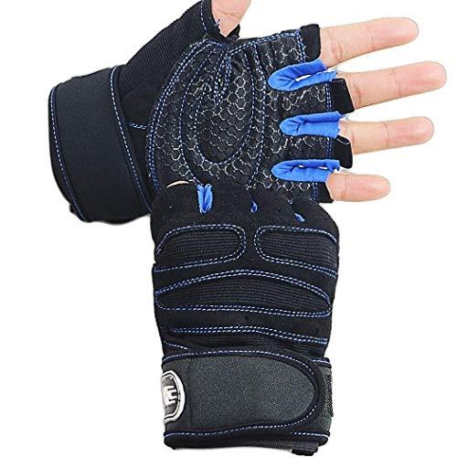 Unisex Sport Half Finger Non-slip Cycling Gym Gloves Training Fitness Waist Wrap Gloves ()