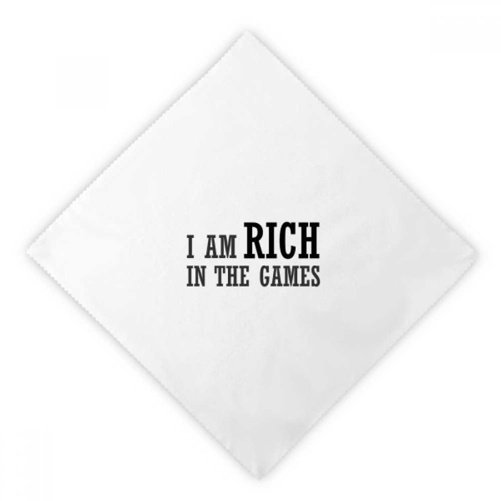 DIYthinker I Am Rich In The Games Dinner Napkins Lunch White Reusable Cloth 2pcs