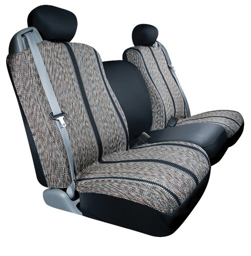 Saddleman Rear Bench/Backrest Custom Made Seat Cover - Saddle Blanket Fabric (Black)