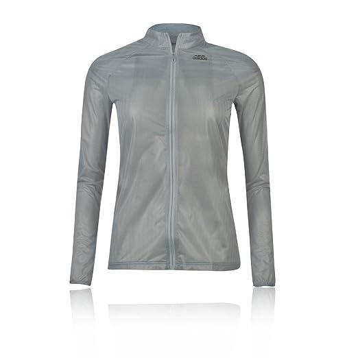 reputable site dd1f0 1497b adidas Adizero Ghost Womens Jacket - X Large - Grey