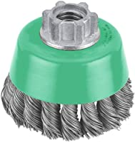 Hitachi 729234 6-Inch Heavy-Duty Crimped Carbon Steel Wire Cup Brush