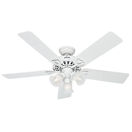 Hunter 53114 The Sontera 52 Inch Ceiling Fan With Five White