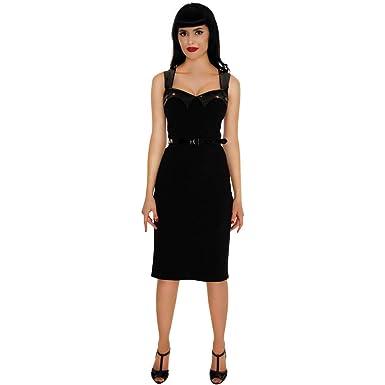 b0eb6dddc8 Amazon.com  Retrolicious The Vamp Wiggle Dress Black  Clothing