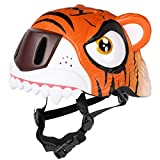 M Merkapa Kids Bike Helmet Adjustable 3D Shark Bicycle Helmets for Toddler and Youth (Tiger)