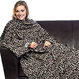 The Snuzzle Slanket Blanket With Sleeves - LEOPARD