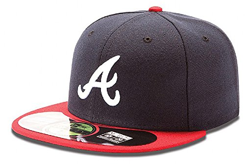 (MLB Atlanta Braves Home AC On Field 59Fifty Fitted Cap-758)