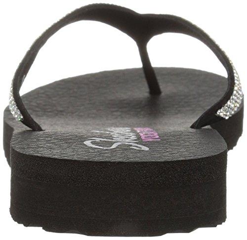 SKECHERS 38625 VIBES CHILL negro zapatos deslizadores de señora chanclas de yoga de espuma Nero