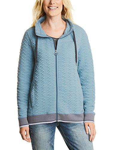 Cecil 3d Sweat Jacket, Chaqueta Punto para Mujer Blau (Mineral Dust Blue 21024)