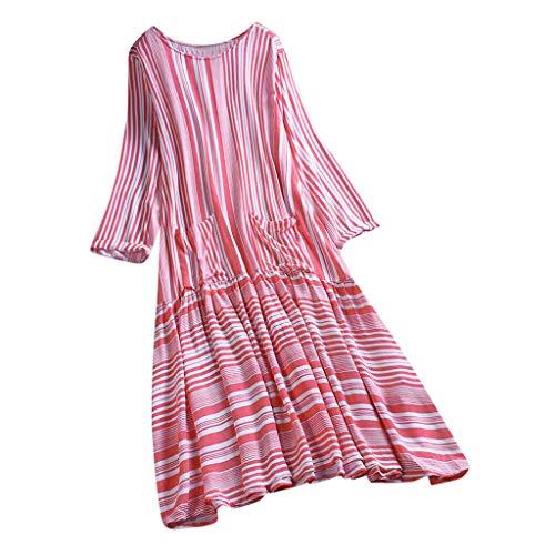 (Kawaiine Large Size Women Casual Sveless Scoop Neck Printed Vest Tops Blouse Shirt Red)