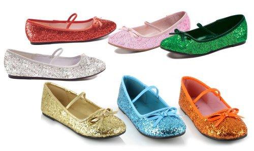 "ELLIE 013-BALLET-G 0"" Heel Ballet Slipper with glitter Child"