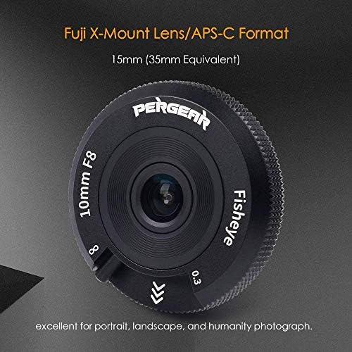 Pergear 10mm F8 Pancake Lens Tiny Fisheye Lens Manual Focus Wide ...