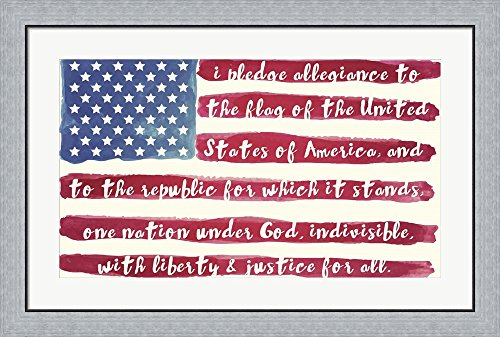 Pledge by Mindy Sommers Framed Art Print Wall Picture, Flat