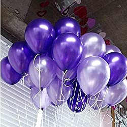 "GuassLee 100 ct Latex Balloon 10"" Mixed Purple & Light Purple Helium Balloons for Wedding Birthday Party Festival Christmas Decorations(Curling Ribbon Included)"